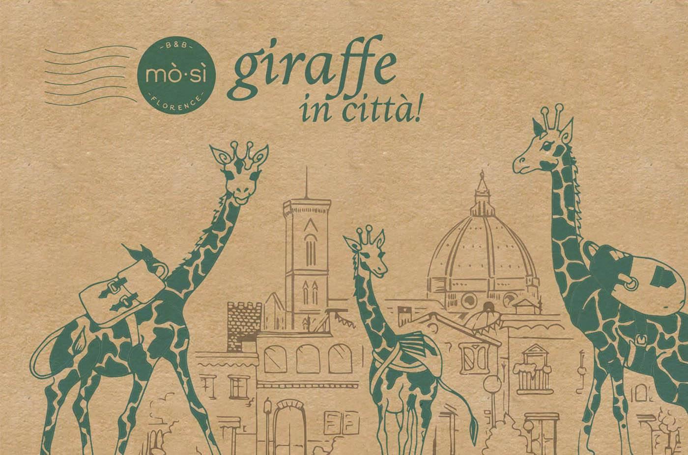 Giraffe in città